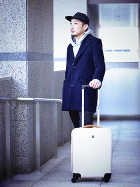 IDEA SEVENTH SENSE/TRAVEL SHOP MILESTO 本部|araiさんのスーツケース/キャリーバッグ「BRUNO ハードキャリー キャビンサイズ(35L)(BRUNO|ブルーノ)」を使ったコーディネート