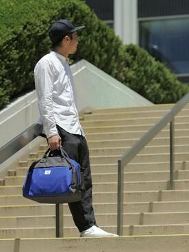 IDEA SEVENTH SENSE/TRAVEL SHOP MILESTO 本部|araiさんのボストンバッグ「TROT ダッフルバッグ(MILESTO|ミレスト)」を使ったコーディネート