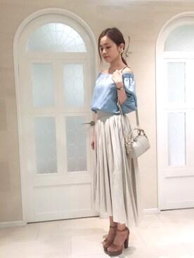 miyaさんの「◆ミランダスカート(JILLSTUART)」を使ったコーディネート