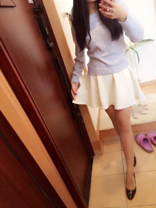 sayaさんの「白スカート」を使ったコーディネート