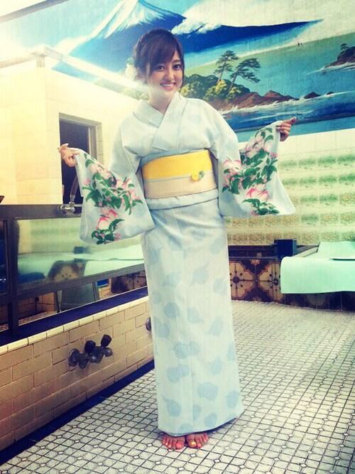 浴衣菊地亜美