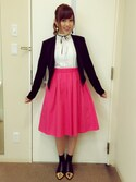 「FOREVER 21 Ruched Sleeve Blazer(Forever 21)」 using this 菊地亜美 looks