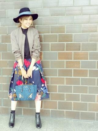 菊地亜美さんの「IntimsteDialyWネーム帽子(Loungedress|ラウンジドレス)」を使ったコーディネート