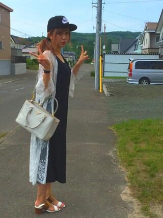 菊地亜美さんの「【DUO】 コードレースロングジレ(MERCURYDUO|マーキュリーデュオ)」を使ったコーディネート