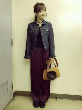 菊地亜美さんの(Mila Owen|ミラ オーウェン)を使ったコーディネート
