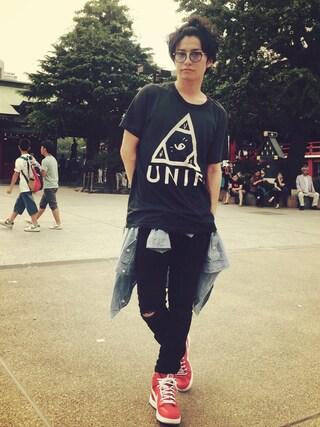 武田航平さんの(UNIF|ユニフ)を使ったコーディネート