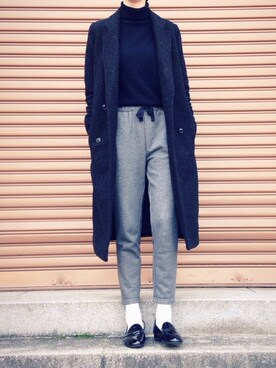 saya.さんの「WOOL-BLEND DOUBLE BREASTED CT(MOUSSY|マウジー)」を使ったコーディネート