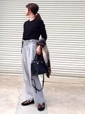 IKUmamaさんの「(2WAYで使える!)ZIPポケットスクエアショルダーバッグ/ハンドバッグ【PLAIN CLOTHING】(PLAIN CLOTHING|プレーンクロージング)」を使ったコーディネート