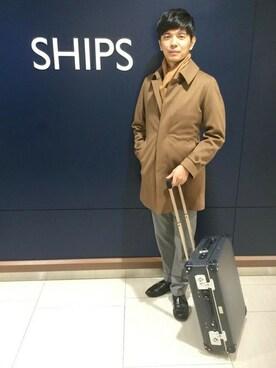 SHIPS 渋谷店|原野さんの「SD: Loro Piana 【STORM SYSTEM】 ドスキン ソリッド■(SHIPS)」を使ったコーディネート