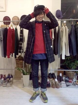 Ryusei Satoさんの「COOPERSTOWN BALL CAP/NEWYORKCITY LOGO CAP(Cooperstown Ball Cap|クーパーズタウンボールキャップ)」を使ったコーディネート