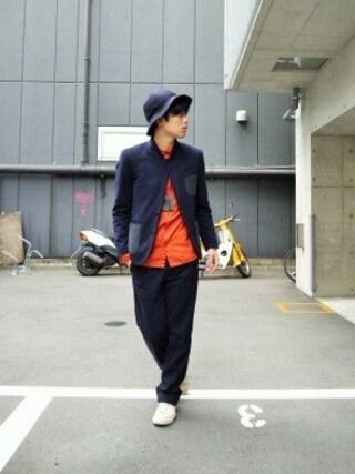 Ryusei Satoさんの「MELTON PUNCHED JACKET(J.Sabatino|ジェイサバティーノ)」を使ったコーディネート