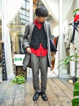 Ryusei Satoさんの「Nep slim waistcoat(The Letters|ザレターズ)」を使ったコーディネート
