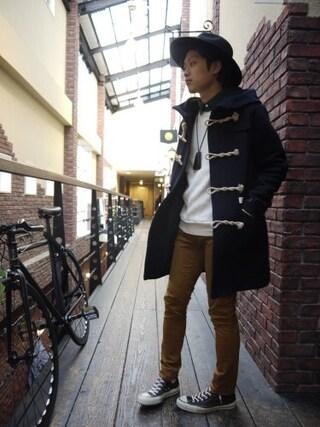 Ryusei Satoさんの「STRETCH SATIN SKINNY PANTS(Name.|ネーム)」を使ったコーディネート
