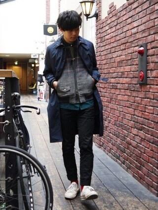 Ryusei Satoさんの「LINNER COAT(in cloudiness|インクラウディネス)」を使ったコーディネート