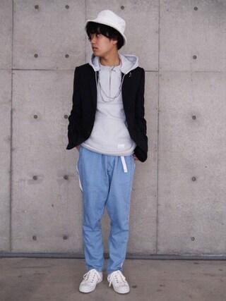 Ryusei Satoさんの「【Name.】SHADOW CHECK TAILORED JKT(Name.|ステュディオス)」を使ったコーディネート