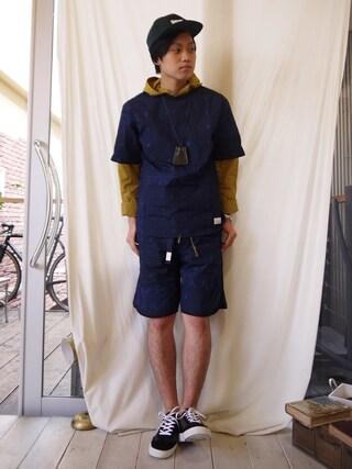 Ryusei Satoさんの「FINX BANDANA PULLOVER SHIRT(Name.|ネーム)」を使ったコーディネート