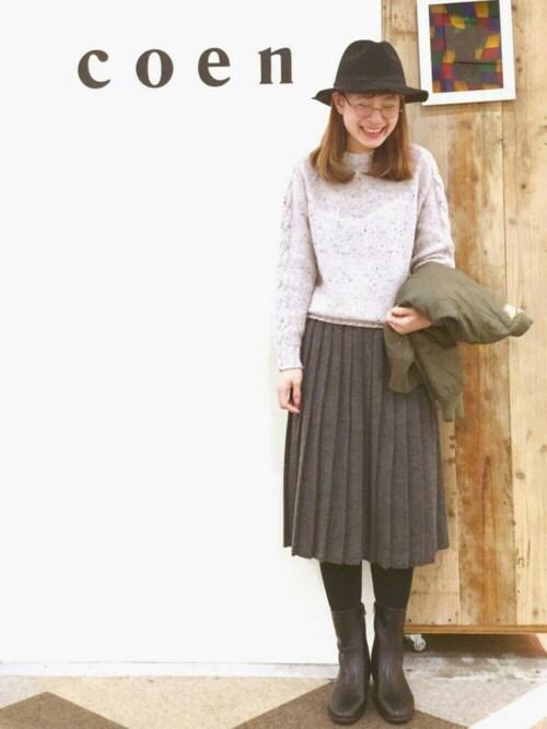 coen鹿児島店coen よこやまさんのブーツ「サイドジップハーフブーツ(coen|コーエン)」を使ったコーディネート