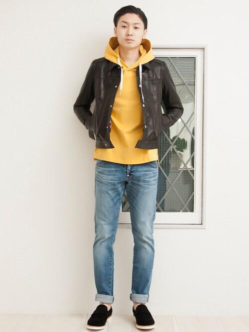 FACTOTUM appartement   Kazuhisa_Teraoさんのライダースジャケット「FACTOTUM レザーGジャン」を使ったコーディネート
