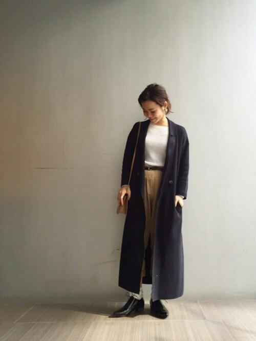 LIFE's堀江店|ERINA  TAMOTSUさんのチェスターコート「ミラノリブ チェスターコート(TODAYFUL|トゥデイフル)」を使ったコーディネート