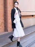 「HIGH SHAFT FLARE HEEL BOOTS(CHARLES & KEITH)」 using this CHARLES & KEITH looks