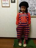 KOYUKIさんの「吊紐付きパンツ(One deux boo|ワンドゥーブー)」を使ったコーディネート