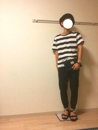 Kochikiさんの「DOORS ヘンプコットンボーダーTee(URBAN RESEARCH DOORS MENS|アーバンリサーチ ドアーズ メンズ)」を使ったコーディネート