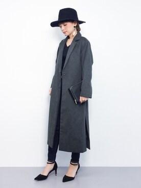 ZOZOTOWN|ayumi ;)さんの「<葛岡碧さん着用>アンゴラ混中折れハット(STYLEST|スタイレスト)」を使ったコーディネート