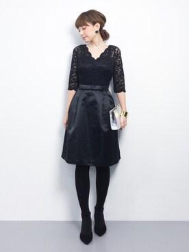 ZOZOTOWN|ayumi ;)さんの「【平子理沙】総レースパーティー ワンピース ドレス(結婚式や二次会などのシーン)(DRESS LAB)」を使ったコーディネート