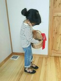 「LEVI'S KIDSWEAR Denim pants(Levi's)」 using this saku looks