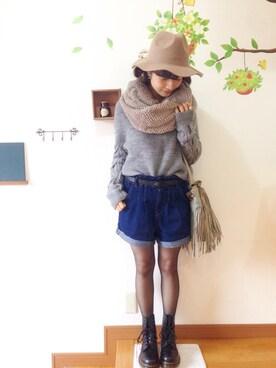 chimochiiさんの「ベルト付ショートパンツ2(jouetie|ジュエティ)」を使ったコーディネート