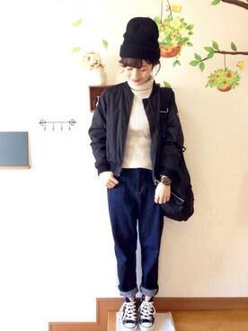 chimochiiさんの「【MAISON MOU GOODS/メゾン ムー グッズ】 knit cap/ニットキャップ(MAISON mou|メゾンムー)」を使ったコーディネート