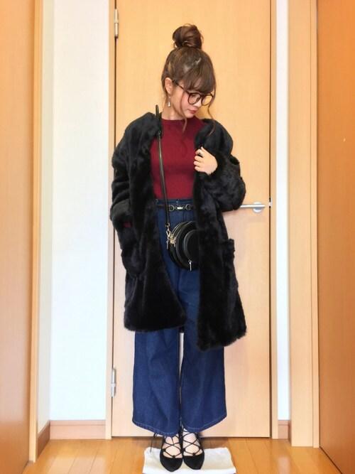 chimochiiさんの「12Gリブソデフレアプルオーバー 734738(LOWRYS FARM)」を使ったコーディネート