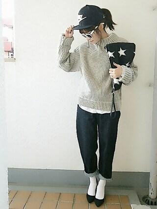 コマさんニット・セーター「MOUSSY 」Styling looks