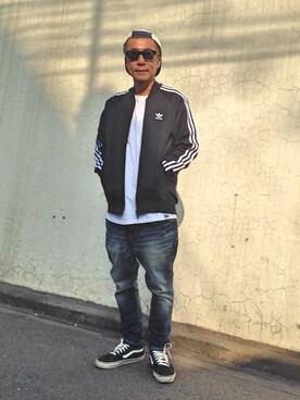 TERIYAKIさんの(adidas|アディダス)を使ったコーディネート