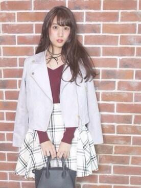 Reinaさんの「【sweet10月号掲載アイテム】スエードライダース【モデル美香さん着用アイテム】(31 Sons de mode|トランテアン ソン ドゥ モード)」を使ったコーディネート