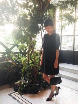 潮田あかりさんの(petite robe noir|プティ ローブ ノアー)を使ったコーディネート