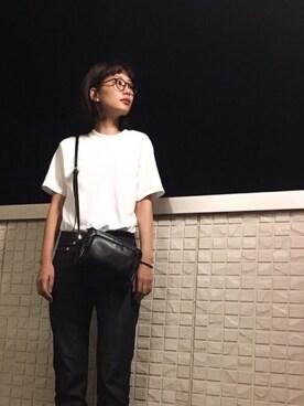潮田あかりさんの「ニュースタンダードジーンズ(A.P.C.|アー・ペー・セー)」を使ったコーディネート