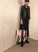 「Marni Tulip-Print PVC Shopping Bag, Multi(Marni)」 using this 潮田あかり looks