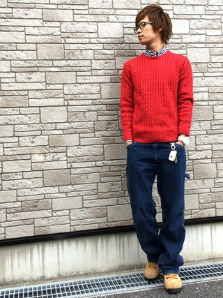 「UR CABLE KNIT プルオーバー(URBAN RESEARCH)」 using this Ryu--ta looks