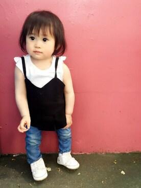 R♡Rさんの(babyGAP|babyGAP)を使ったコーディネート