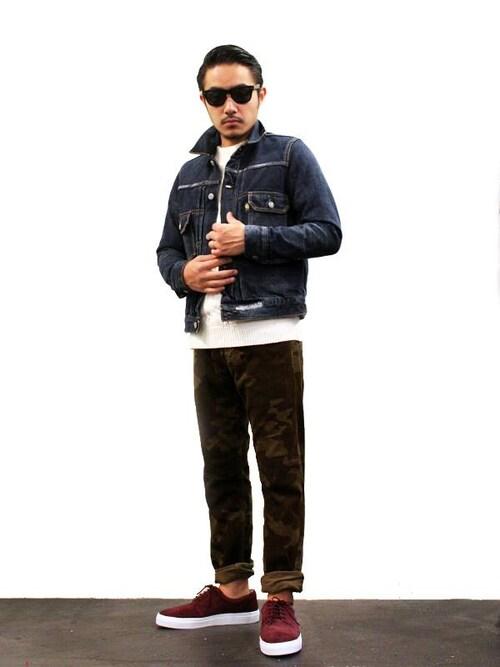 アメカジ 着こなしのデニムジャケット「HABANOS HABANOS / HBNS ハバノス Denim Jacket」を使ったコーディネート