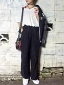 「KENZO Kanvas Cross Body Bag(Kenzo)」 using this 矢部ユウナ looks