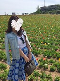 「Alice + Olivia Earla cotton-blend daisy-jacquard skirt(Alice + Olivia)」 using this sakurako☺︎❤︎ looks