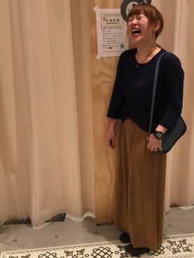 coen名古屋mozoワンダーシティ店|coen ナガタさんの「パイピングショルダーバッグ(coen)」を使ったコーディネート
