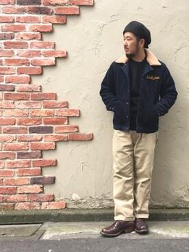 Schott East|omata takayaさんの「Schott /ショット/WOOL NEWSBOY CAP/ウール ニュースボーイ キャップ(schott)」を使ったコーディネート