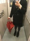 キヌコホテルさんの「日本の鞄職人が作る シンプル メッセンジャーバッグ ラッシュショルダー2(ミディアム)(beruf baggage ベルーフ バゲッジ)」を使ったコーディネート