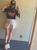 「FOREVER 21 knit skater skirt(Forever 21)」 using this sera looks