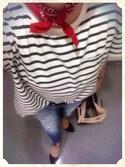 なつこさんの「《追加》ワイドポケットTシャツ#(JOURNAL STANDARD|ジャーナルスタンダード)」を使ったコーディネート