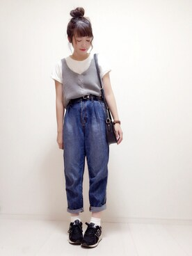 eikoさんの「ポケットTシャツ(who's who Chico|フーズフーチコ)」を使ったコーディネート