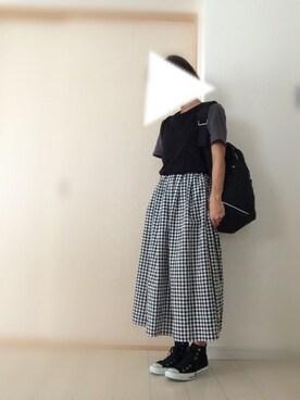 asuさんの「USAコットンポケTシャツ 569969(LOWRYS FARM)」を使ったコーディネート